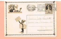 E.P. ENFANT LETTRES AU PERE NOEL. 1931. BRUXELLES- BRUSSEL.EMPLOYEZ LES TIMBRES ANTITUBERCULEUX. - Ganzsachen