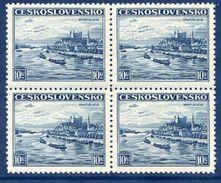 CZECHOSLOVAKIA 1936 Definitive 10 Kc. In Block Of 4 MNH / **.  Michel 359 - Unused Stamps