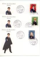 """Lot De 4 Enveloppes Harry Potter  """"fête Du Timbre 2007 Camon 10.03.2007 - Fairy Tales, Popular Stories & Legends"""