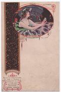 Menu Publicitaire Vierge/Crême SIMON/ Produit De Beauté/Les Saisons : Automne/ /Vers 1920-1930  MENU231 - Menu