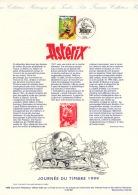 "Feuillet A4 ""journée Du Timbre  6.03.1999   ASTERIX   Paris"" - Kindertijd & Jeugd"