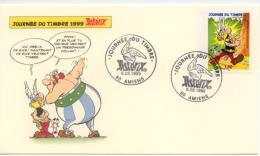 """2 Enveloppes """"journée Du Timbre  6.03.1999   ASTERIX  """"  Amiens - Childhood & Youth"""