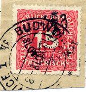 CZECHOSLOVAKIA 1918 Budejovice Local Handstamp On Postage Due 15 H. Used.  Michel 110 - Czechoslovakia