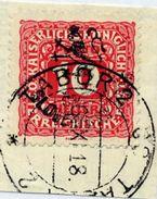 CZECHOSLOVAKIA 1918 Budejovice Local Handstamp On Postage Due 10 H. Used.  Michel 109 - Czechoslovakia