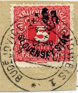 CZECHOSLOVAKIA 1918 Budejovice Local Handstamp On Postage Due 5 H. Used.  Michel 108 - Czechoslovakia