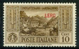 Lero 1932 Sass. 17 Nuovo * 80% Garibaldi - Aegean (Lero)