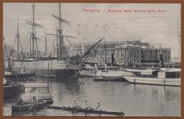 ITALY, TRIESTE - SAILING BOAT PICTURE POSTCARD 1912 RARE!!!!!!!!!!! - Trieste