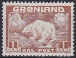 Groenland     .    Yvert   .   9     .     *    .   Ongebruikt  .   /   . Mint-hinged - Groenland