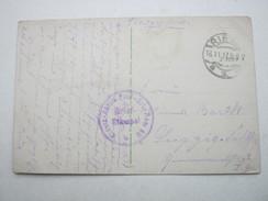 1917 , RIESA  , Klarer Stempel Auf Karte Mit Truppensiegel - Duitsland