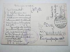 1917 , VILLINGEN , Klarer Stempel Auf Karte Mit Truppensiegel - Duitsland