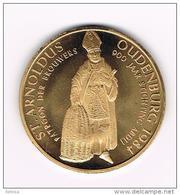 )  OUDENBURG  ST.ARNOLDUS  900 JAAR STICHTING ABDIJ  1984 - Jetons De Communes