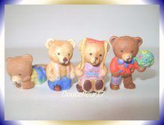 Petits Ours ... Lot De 4 Fèves .. Ref AFF : 54-2004...(pan 0038) - Animals