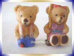 Petits Ours ... Lot De 2 Fèves .. Ref AFF : 54-2004...(pan 0038) - Animals