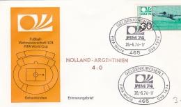 Germany Cover 1974 World Cup FIFA Football - Gelsenkirchen Netherlands-Argentina 4:0  (DD6-31) - Coppa Del Mondo