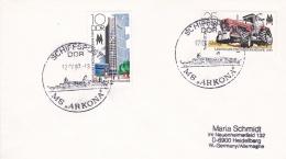Ship Cover: M/S Arkona P/m Schiffpost DDR 1987  (DD6-31) - Schiffe