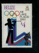 479715466 1979  ** MNH Yvert 453 Winter Spelen Lake Placid Biathlon - Belize (1973-...)