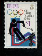 479715823 1979  ** MNH Yvert 450 Winter Spelen Lake Placid Slalom - Belize (1973-...)