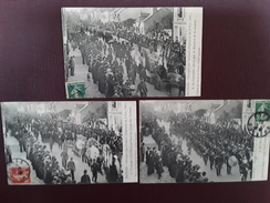Lot De 3 CPA BOURGES - Obsèques Des Victimes Explosion Du 02 Nov. 1907 No 2 3 Et 4 - Bourges