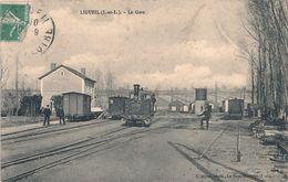 Cpa 37 Ligueil La Gare - France