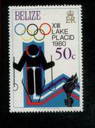 479716875 1979  ** MNH Yvert 448 Winter Spelen Lake Placid Reuze Slalom - Belize (1973-...)