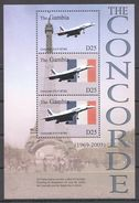 I3 GAMBIA TRANSPORTATION AVIATION THE CONCORDE 1KB MNH - Concorde