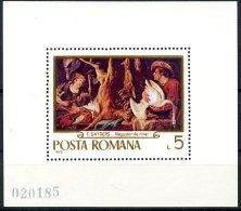 Romania, 1970, Hunting Paintings, Art, MNH, Michel Block 78 - Unclassified