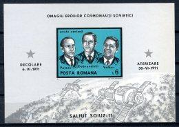 Romania, 1971, Space, Soyuz, Astronauts, MNH, Michel Block 86 - Rumänien