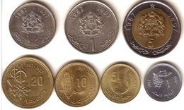MOROCCO, Hassan II - Complete Mint Set 1987 ( 7 Coins ) - Unc - Morocco