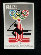 479718656 1979  ** MNH  1980 Moscow Summer Olympics Imperforated Stamp Scott 455 Michel 436 Sailing - Belize (1973-...)