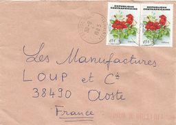 Centrafrique RCA CAR 1985 Bangui Sica Hibiscus Flower Cover - Centraal-Afrikaanse Republiek