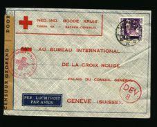 A4947) Niederl. Indien Brief Rotes Kreuz Palembang 1940 - Indes Néerlandaises