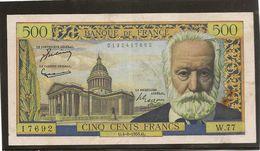 France Billet De 500 Francs Victor Hugo Référence Fayet F 35 / 5 Du 4 08  1955  TTB - 1871-1952 Anciens Francs Circulés Au XXème