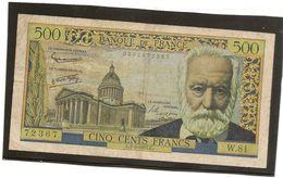 France Billet De 500 Francs Victor Hugo Référence Fayet F 35 / 6  Du 7 02   1955  TB - 1871-1952 Circulated During XXth