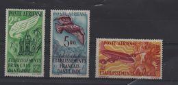 INDE  PA  N° 18/20 * - Charnières -   AVION Et OISEAU  - Cote 36.60 € - India (1892-1954)