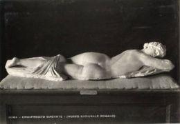 Roma - Cartolina Antica ERMAFRODITO GIACENTE Museo Nazionale Romano (306 E. Richter) - OTTIMA N85 - Sculture