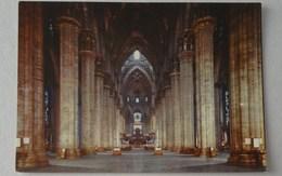 504 - Cartolina Milano Duomo Visione Prospettica Navata Centrale - Milano (Milan)