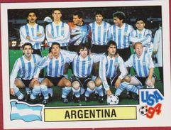 Panini Football 94 1994 Voetbal Sticker Autocollant Worldcup USA Argentina Team Photo Nr. 254 Argentine Argentinie - Sports