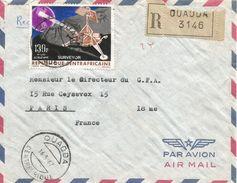 Centrafrique RCA CAR 1967 Ouadda Space Moon Surveyor Registered Cover - Centraal-Afrikaanse Republiek