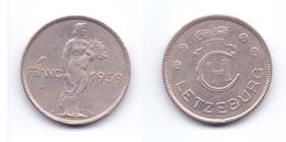 Luxembourg 1 Franc 1939 - Luxemburgo
