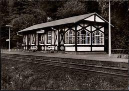!  1964 Ansichtskarte Bahnhof Bad Salzhausen, Nidda, Hessen, Eisenbahn - Wetterau - Kreis