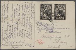Br/GA Niederländisch-Indien: 1946/1948, Interims Time Republic Indonesien, Collection Of More Than 60 Enti - Netherlands Indies