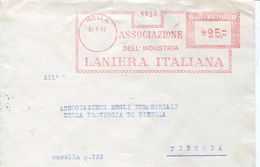 27263  Italia, Red Meter/freistempel/ema/ 1958 Biella  Associazione Industria Laniera Wool Industry Assoc. - Machine Stamps (ATM)