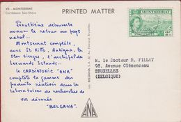 Stamp Timbre On Postcard Montserrat Caribbean Sea-Shore - Montserrat