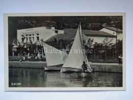 SELCE DALMAZIA Vecchia Cartolina Barca Vela Sokolski Dom Croazia - Croazia