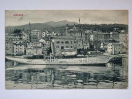 VOLOSCA Volosko ISTRIA ABBAZIA Vecchia Cartolina Veliero Piroscafo AK Croazia 1606 - Croatia