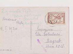 V23  >  SLOVENIA  --  VERIGARI, CHAINBREAKERS  --     POSTCARD _.  GIRL WITH DOG  --   1920 - Slovenia