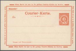GA Deutsches Reich - Privatpost (Stadtpost): ERFURT: Sammlung Von Insges. Ca. 75 Ganzsachen, Meist Unge - Private
