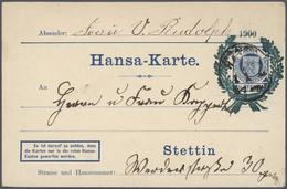 Br/GA Deutsches Reich - Privatpost (Stadtpost): STETTIN: Hochinteressante Sammlung Von Ca. 23 Briefen, Kar - Private