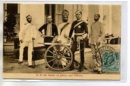 MALAISIE Carte Tres RARE H.H The Sultan Of JOHORE Johor And Officiers  écrite Singapour 1909   /D15-S2017 - Malaysia