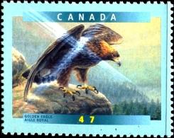 BIRDS OF PREY-GOLDEN EAGLE -CANADA-VARIETIES-ERROR-MNH-J4-06 - Aigles & Rapaces Diurnes